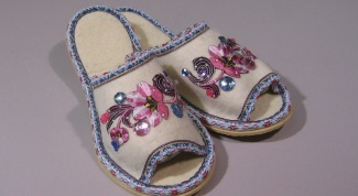 How to make Slippers with his own hands