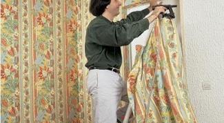 Как обить стену тканью