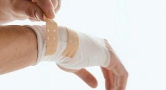 Как подсушить рану