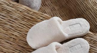 Как сшить комнатные тапочки