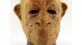 Как сделать маску обезьяны