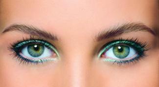 Как красить глаза зелеными тенями