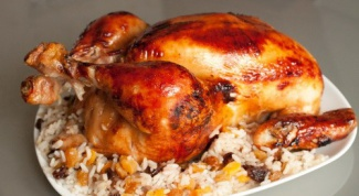 How to bake chicken with rice in the oven