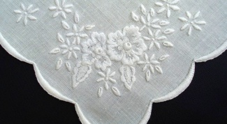 How to embroider a handkerchief