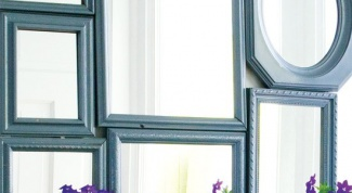 How to decorate an old mirror