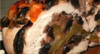 Как приготовить куриные грудки с грибами