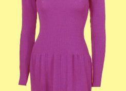 Как связать спицами платье