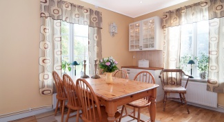 Как сшить шторы в кухню