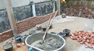 Как развести цемент