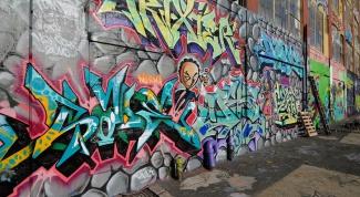 Как рисовать граффити на стене