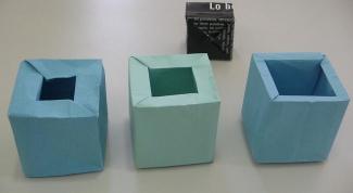 Как сделать куб