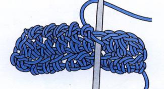 Как вязать крючком столбик без накида