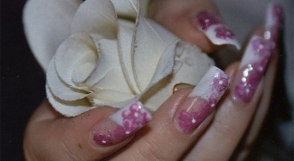 How to draw a rose nail