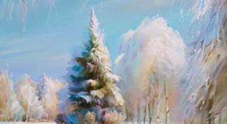 Как нарисовать зиму