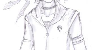 How to draw Sasuke