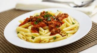 Как приготовить макароны с фаршем