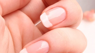 How to make nails white