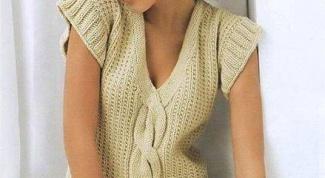 Как связать на спицах женский жилет