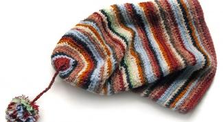 Как вязать шапку-носок