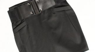 Как сшить пояс для юбки