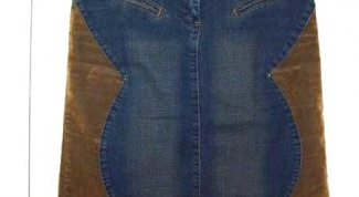 How to sew from old jeans skirt