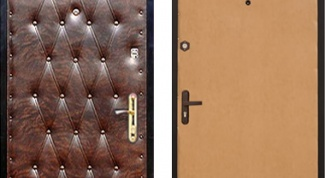 Как обшить дверь дерматином