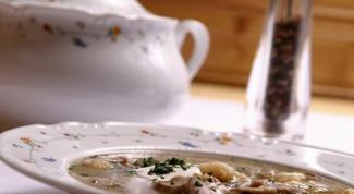 Как готовить суп из грибов и перловки
