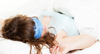 How to sew a bandage for sleep