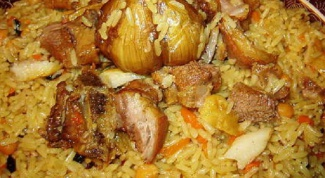 How to cook pilaf with lamb