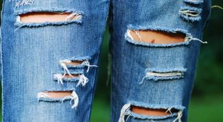 Как сделать джинсы модными
