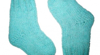 How to knit socks for a child