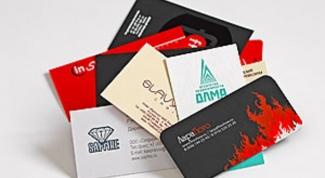 Как резать визитки