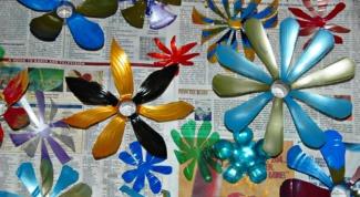 Как сделать цветы из пластиковых бутылок