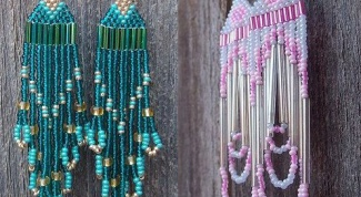 How to make earrings from beads
