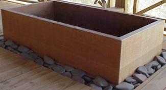 Как сделать деревянную ванну