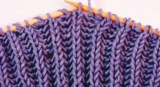 Как связать шарф английской резинкой