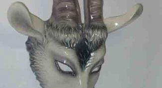 Как сделать маску козы