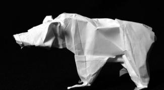 Как сделать медведя из бумаги