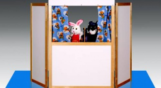 How to make a curtain for a puppet theater