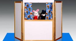 Как сделать ширму для кукольного театра