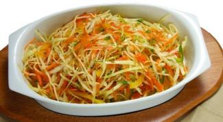 Как сделать салат из свежей капусты