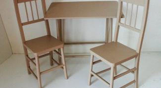 Как сделать самому стол и стулья