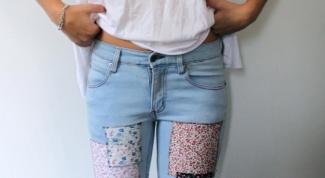 Как зашить дырки на штанах