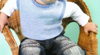 Как связать детский жилет