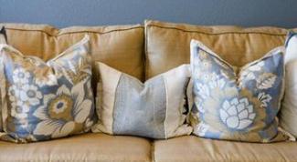Как сшить диванную подушку