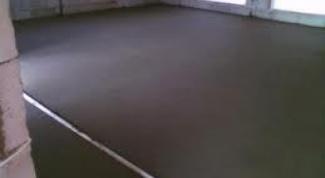 Как сделать бетонный пол дома