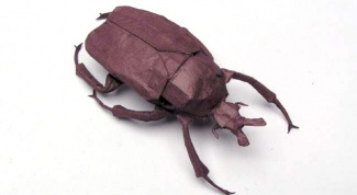 Как сделать жука из бумаги