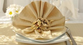 Как разложить красиво салфетки