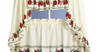Как сшить шторы для кухни своими руками