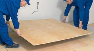 Как постелить фанеру на пол